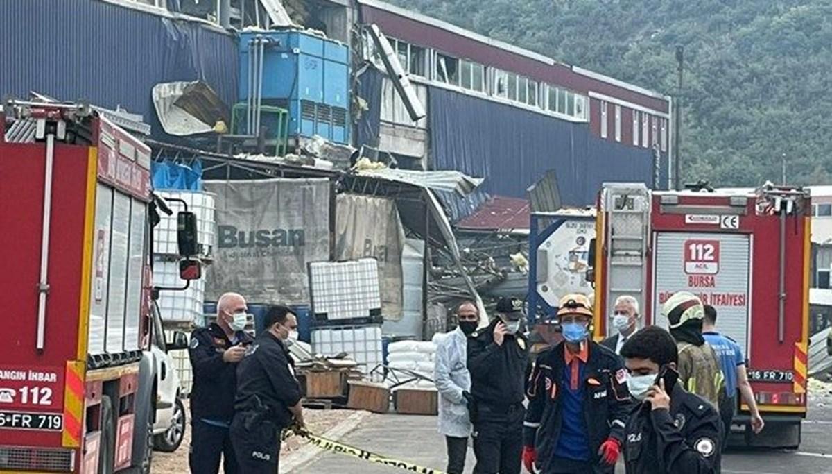 Bursa'da patlama yaşanan kimya fabrikasının işletme müdürü tutuklandı