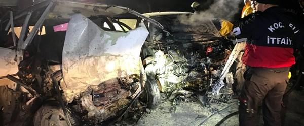Ölüm yolunda yine kaza: 2 ölü