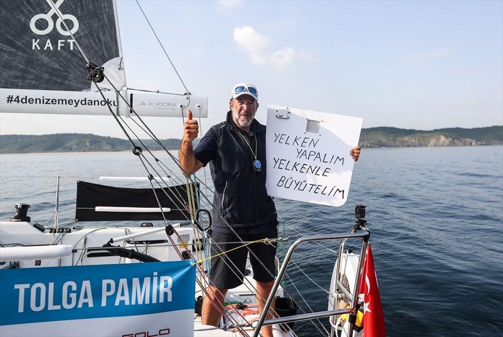 Yelkenci Tolga Pamir, rekor için Türkiye'nin 4 denizini boydan boya geziyor - 11