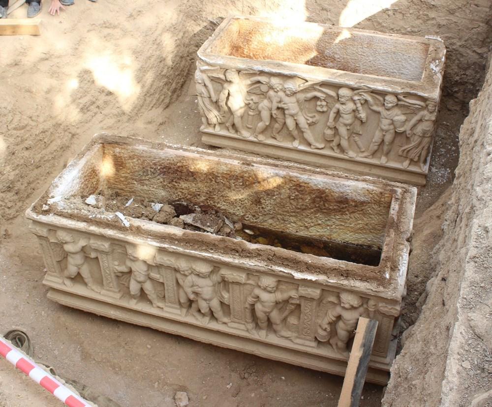 İznik'te Hisardere kazılarında iki lahit bulundu: Mumyalanmış 3 iskelet - 9