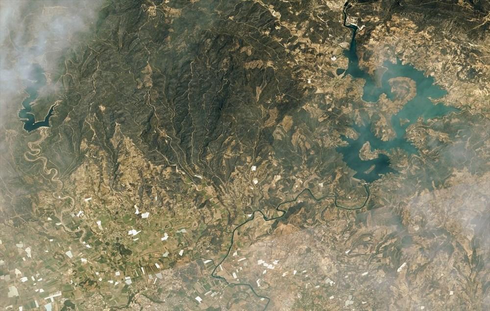 Göktürk uyduları, Manavgat ve Marmaris'teki orman yangınlarını uzaydan görüntüledi - 3