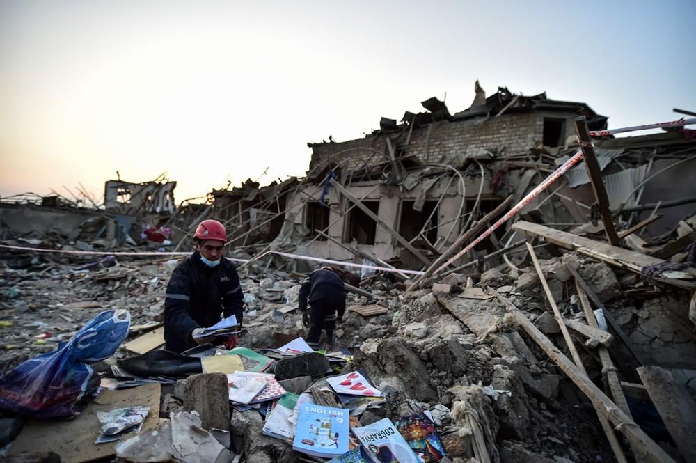 Ermenistan'ın Gence'ye füze saldırısının şiddeti gün ağarınca ortaya çıktı - 3
