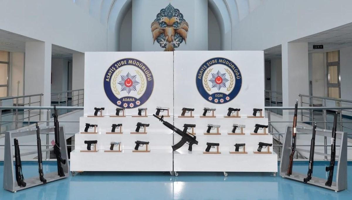 Adana'da aranan 229 kişi yakalandı: 37 ruhsatsız silah ele geçirildi