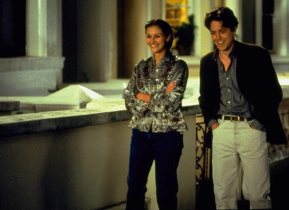 Julia Roberts ve Hugh Grant (Notting Hill-1999)