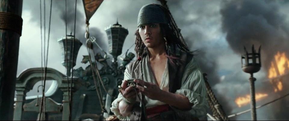 Fragmanda Jack Sparrow'un genç hali de yer alıyor.