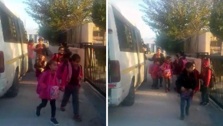Adana'da 17 kişilik okul servisinde 34 öğrenci taşıdılar