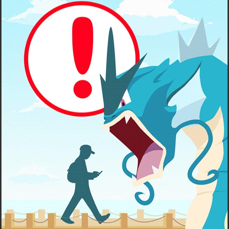 Pokemon GO uygulamasında çıkan uyarı.