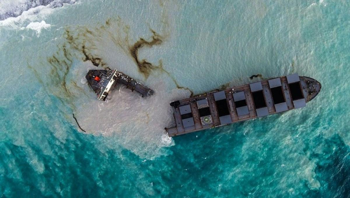 Mauritius'da felaket büyüyor: Petrol tankeri ikiye bölündü