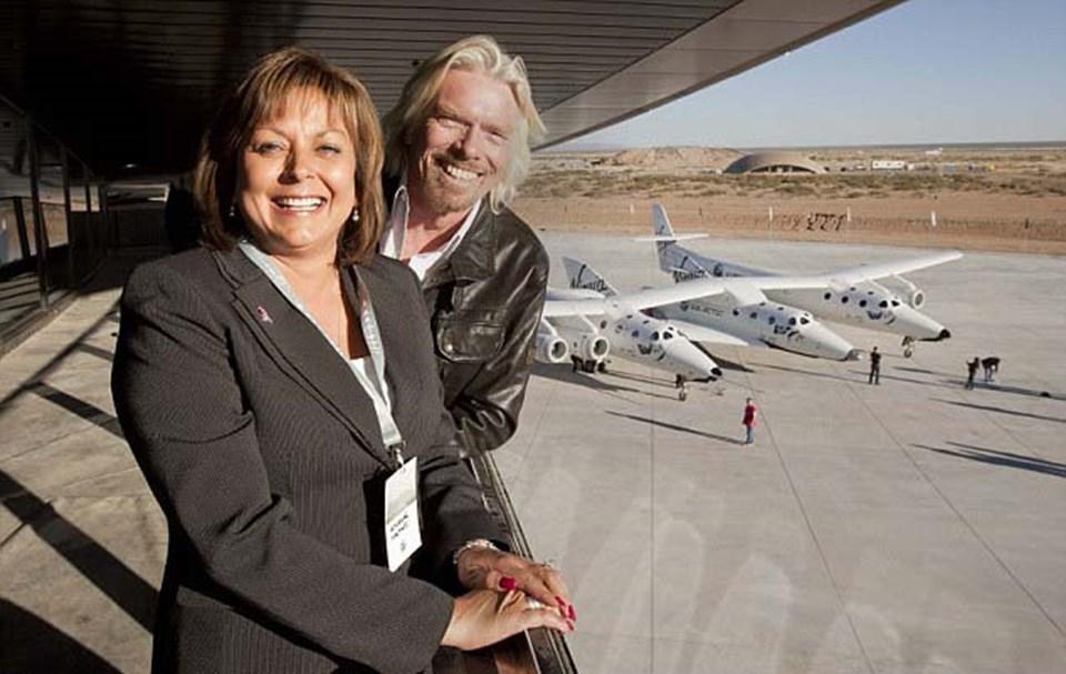 Richard Bransonve New Mexicovalisi Susana Martinez