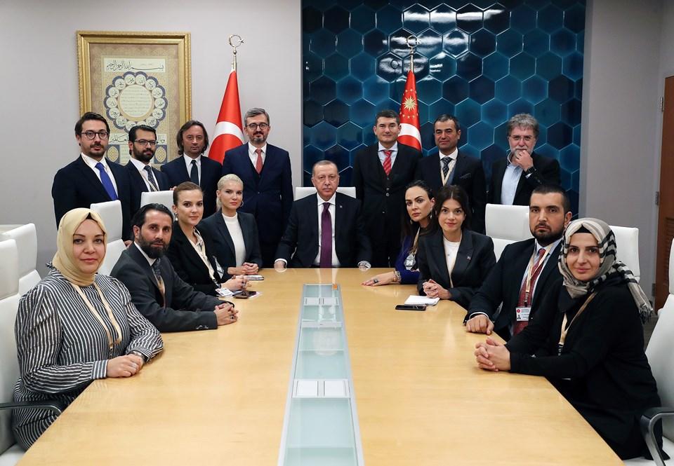 Cumhurbaşkanı Erdoğan'ın ABD ziyaretine eşlik eden gazeteciler.