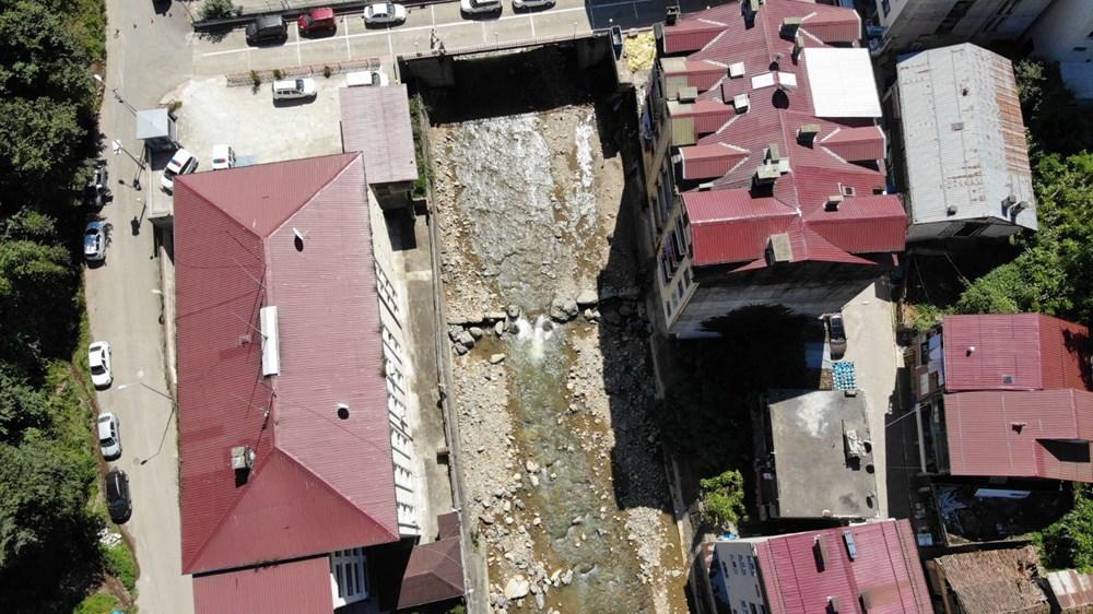 Trabzon'da tedirgin eden görüntü: Giresun'un Dereli ilçesi gibi sel riski taşıyor - 3