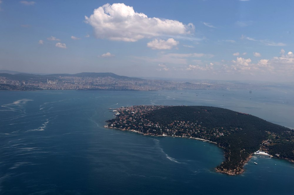 Müsilaj havadan görüntülendi: Deniz salyası her yerde - 6