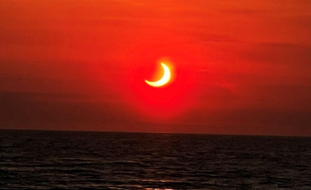 'Ateş Çemberi' Güneş Tutulması gerçekleşti - 10