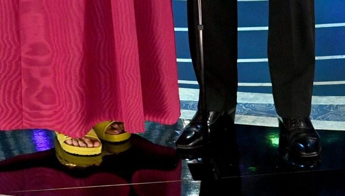 Frances McDormand Oscar'a terlikle katıldı