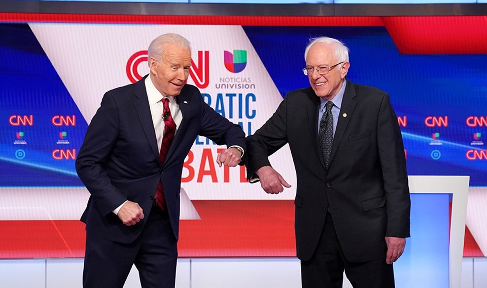 Biden ve Sanders