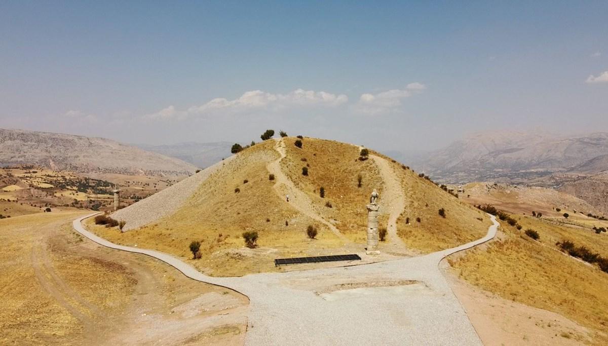 Adıyaman'da Karakuş Tümülüsü'nde kraliçelerin mezarları tespit edildi