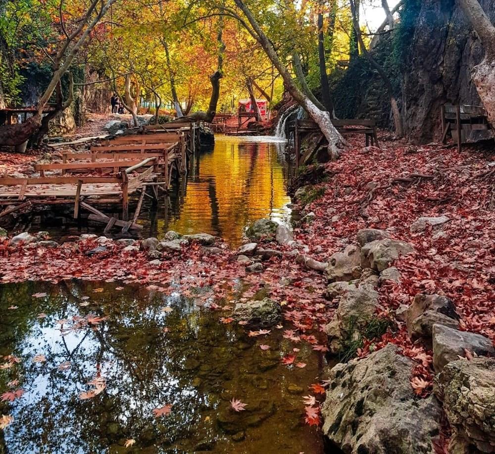 Kahramanmaraş'ta doğa harikası Döngel Şelalesi sonbaharda büyülüyor - 3