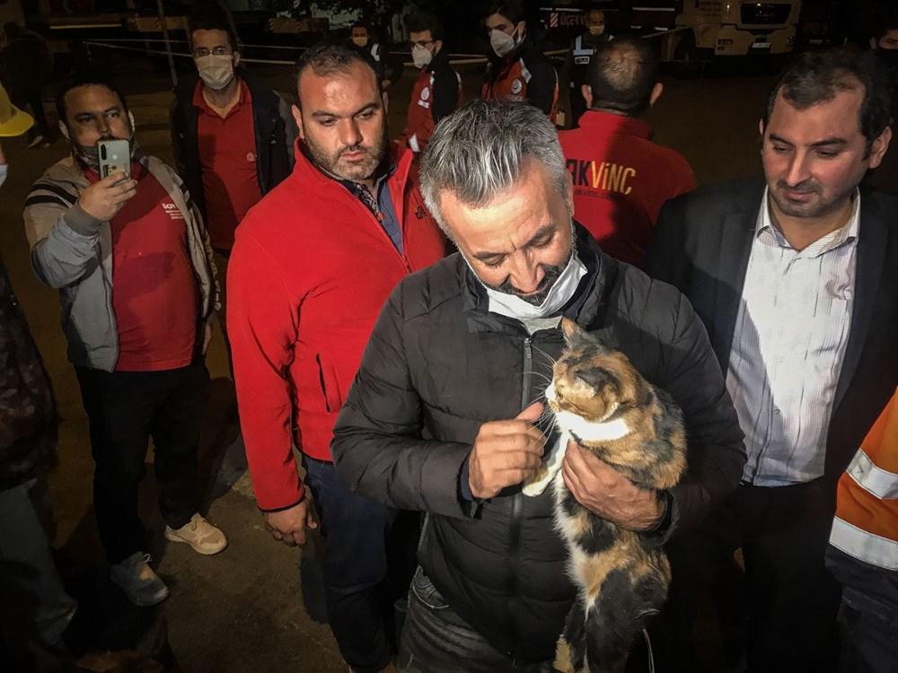 İzmir'de enkazda K-9 köpeği kediyi kurtardı - 5