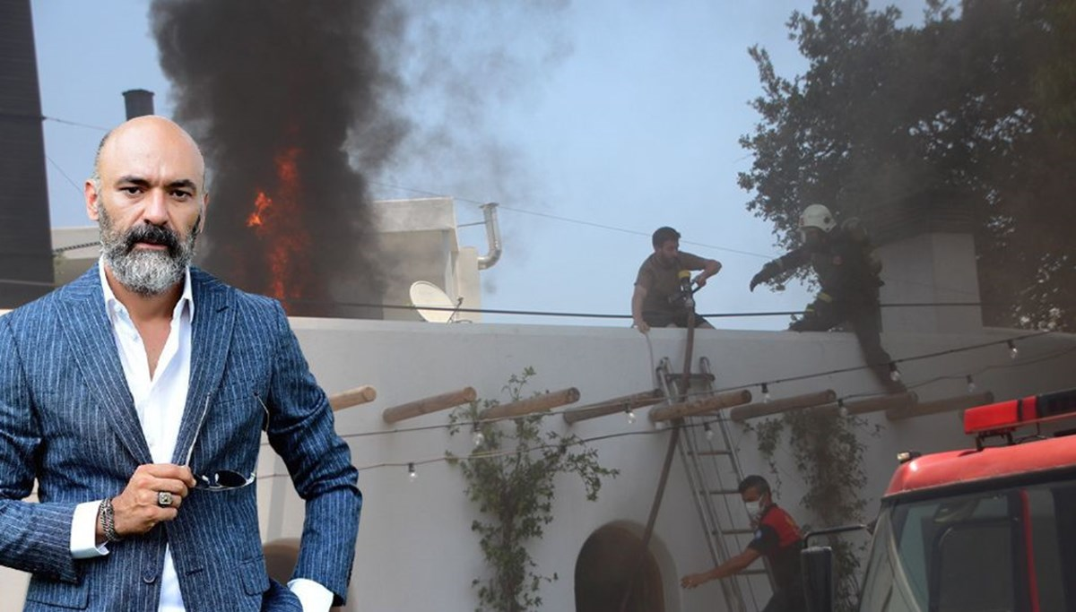 Oyuncu Kaan Çakır'ın mekanında yangın