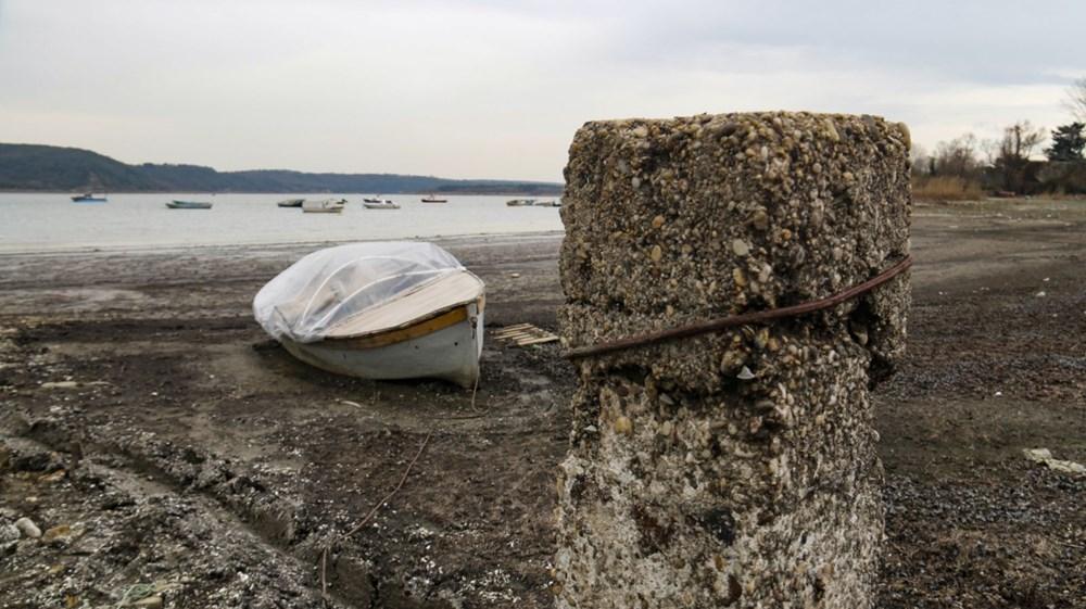 Terkos Gölü 100 metre çekildi, kirlilik ortaya çıktı - 4