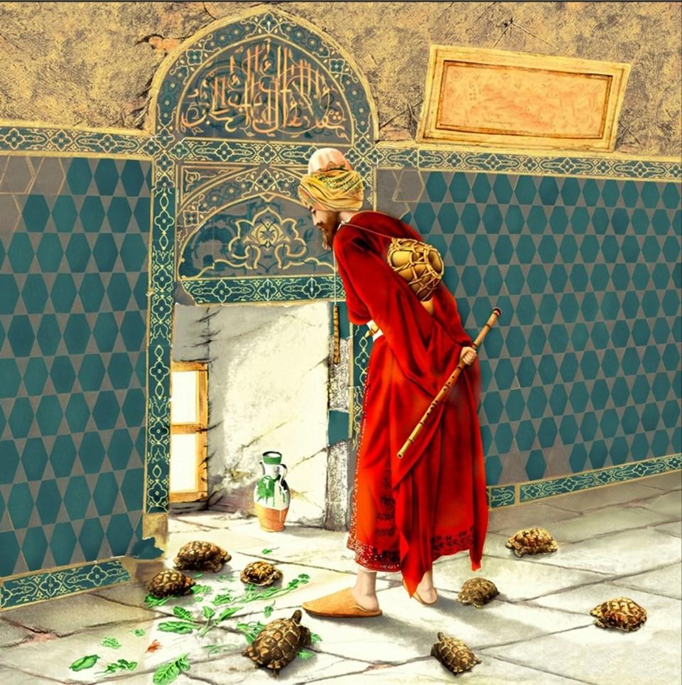 Osman Hamdi Bey'in en değerli eseri 'Kaplumbağa Terbiyecisi' adlı tuval üstü yağlı boya tablosunun biri Pera Müzesi'nde, diğer ise Belma Simavi koleksiyonunda yer alıyor.