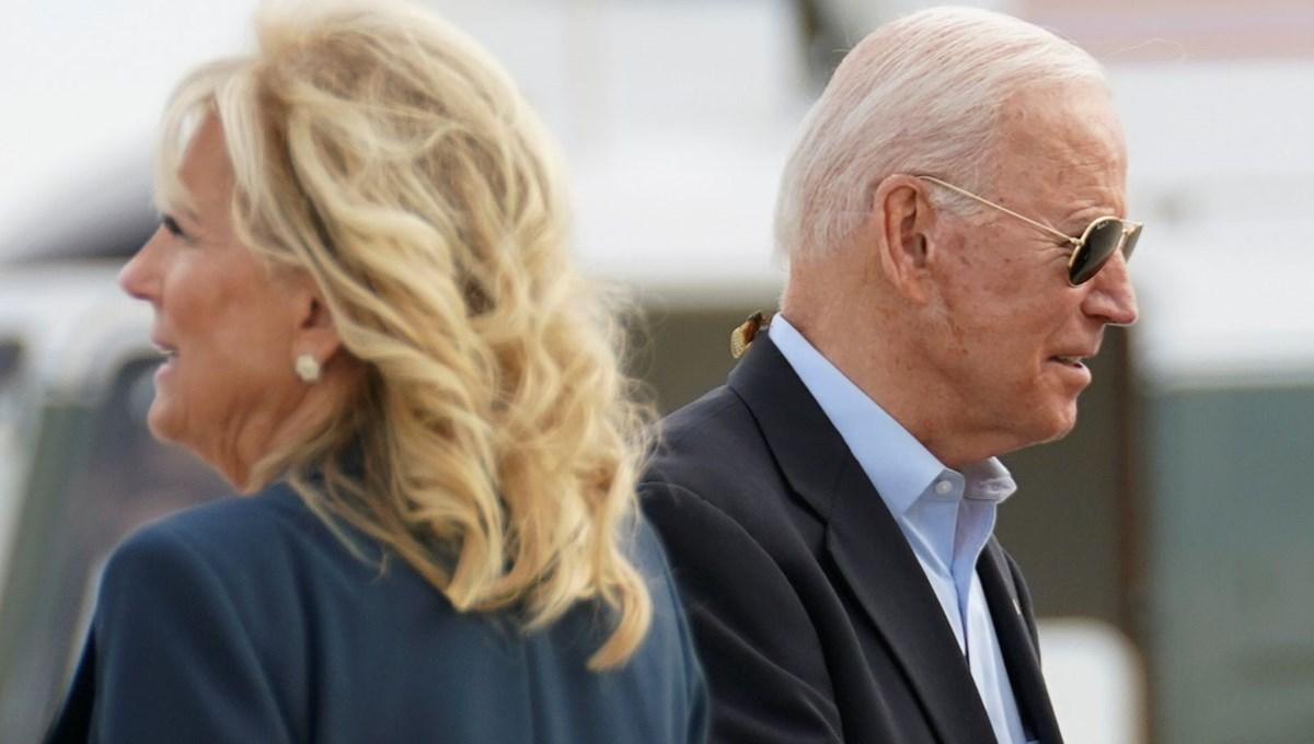 First Lady Jill Biden'dan ABD Başkanı Joe Biden'a kameralar önünde azar