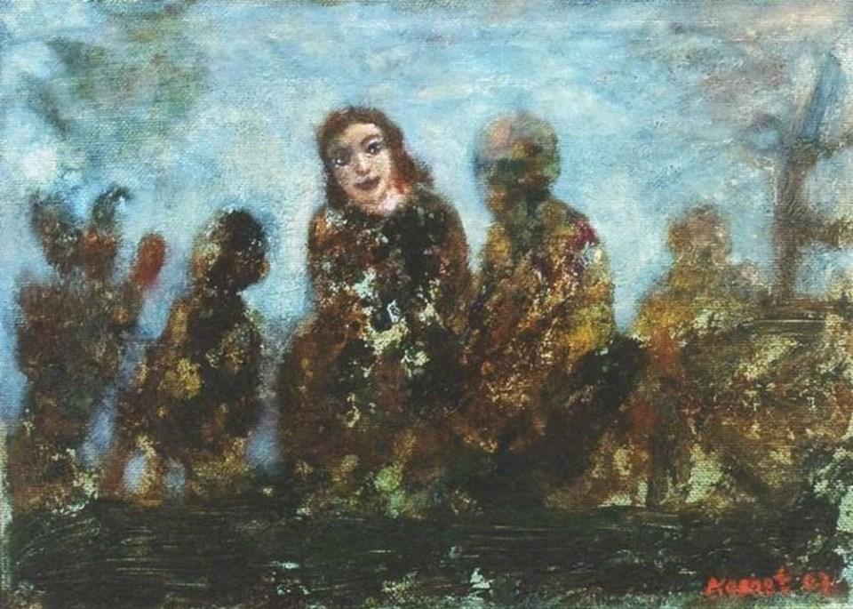 """Gürkan Coşkun'un""""Komet"""" adlı tablosu"""