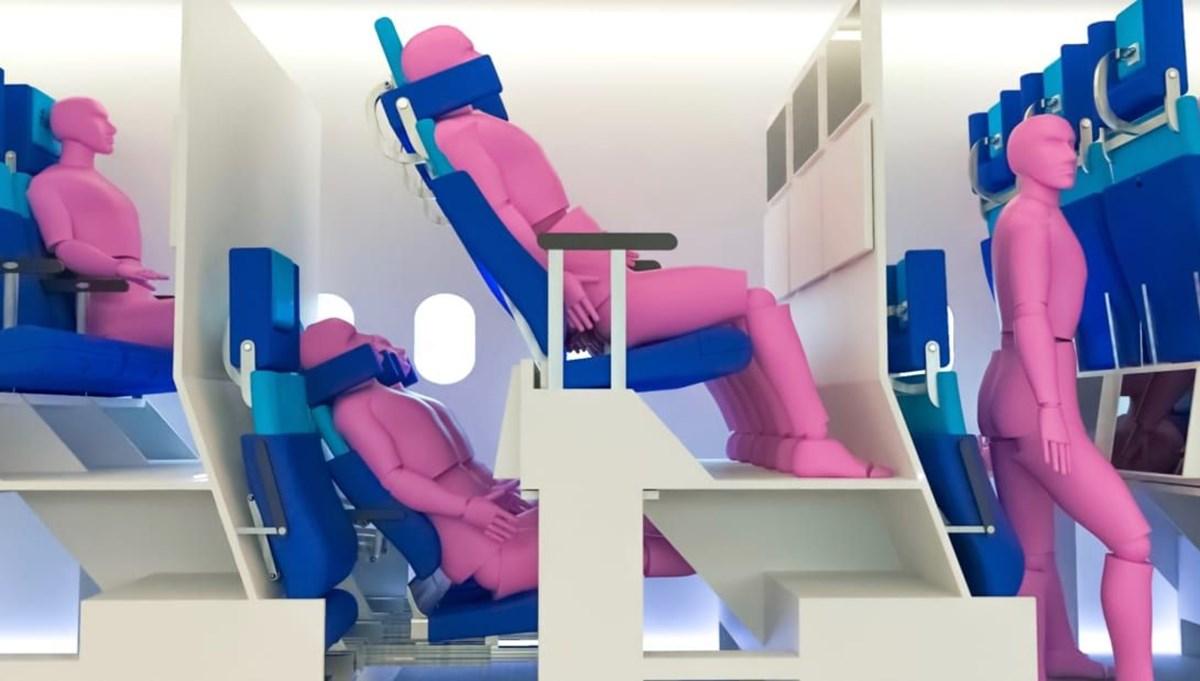 Pandemi sonrası havayolu şirketlerinin toparlanma umudu: Çift katlı koltuklar
