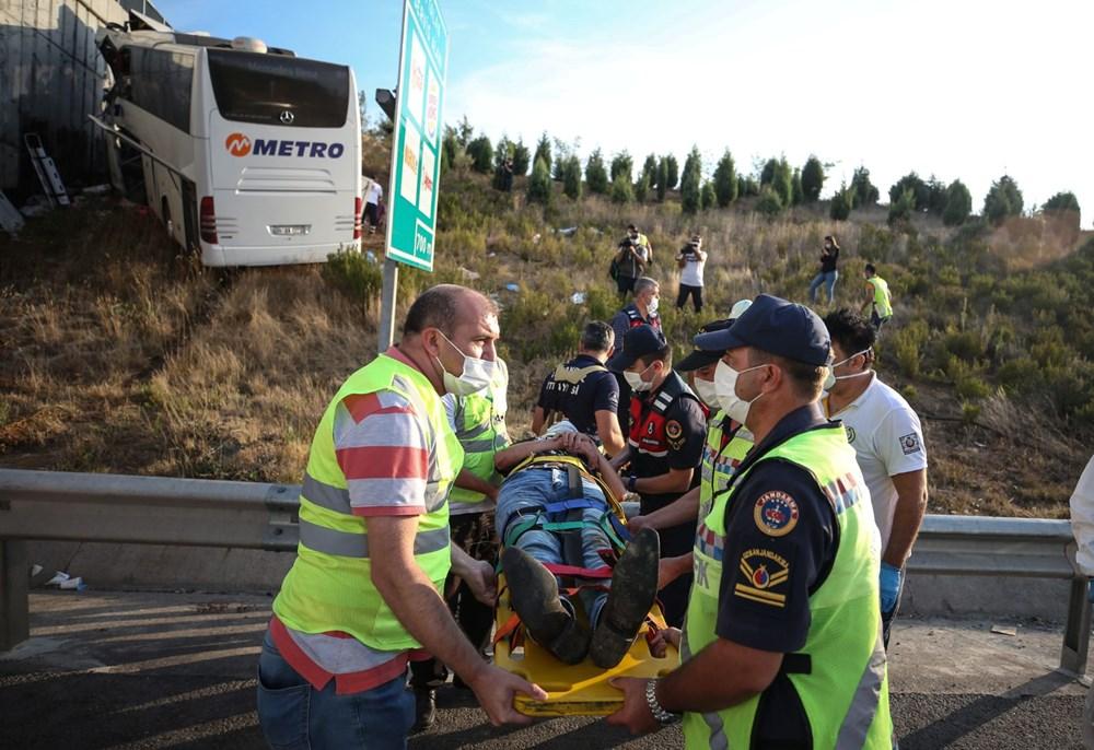 Kuzey Marmara Otoyolu'nda otobüs yoldan çıktı: 5 ölü, 25 yaralı - 10