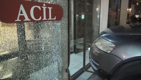 İstanbul'da corona virüs tartışması kamerada: Aracıyla hastaneye girmeye çalıştı