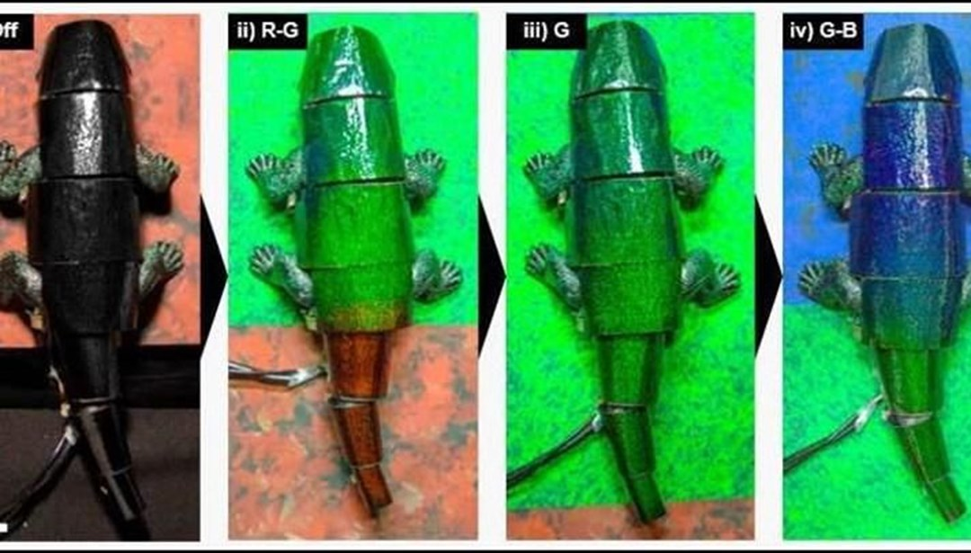Renk değiştiren bukalemun robot geliştirildi