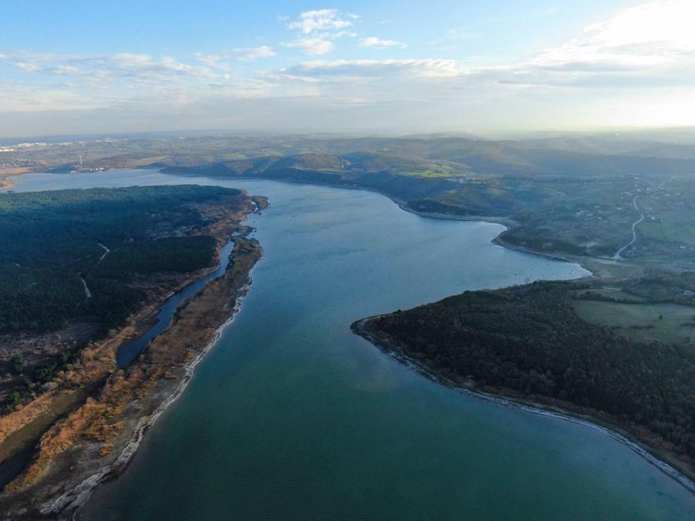 Terkos Gölü 100 metre çekildi, kirlilik ortaya çıktı - 10