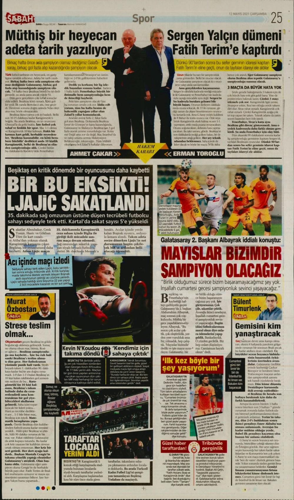 Günün spor manşetleri (12 Mayıs 2021) - 8