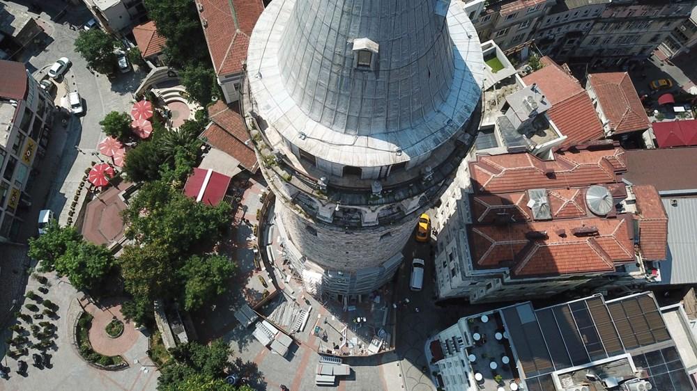 Galata Kulesi'nde restorasyon başladı - 3
