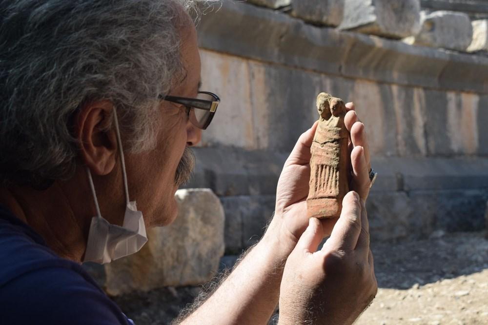 Myra Antik Kenti'nde hepsi bir arada 50'den fazla heykelcik bulundu - 7