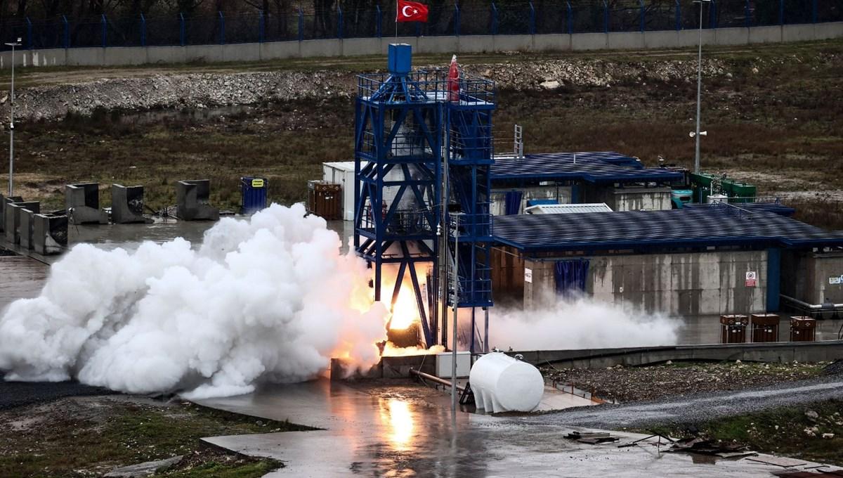Milli Uzay Programı: Yerli roket motoru testi geçti
