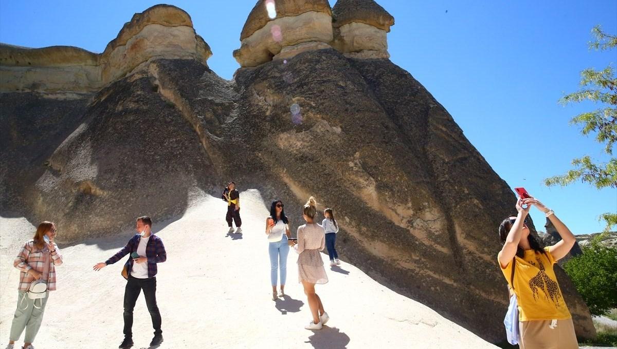Ukraynalı turistlerin Kapadokya'ya ilgisi devam ediyor