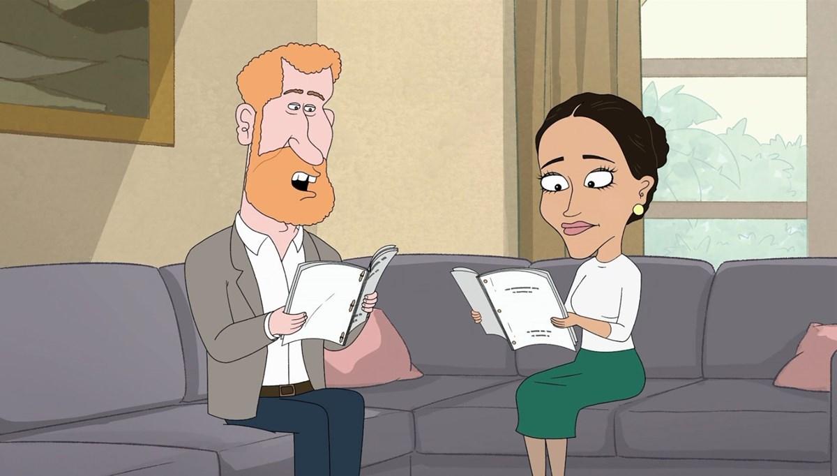 Prens Harry ve Meghan Markle tartışmalı çizgi dizide alay konusu oldu