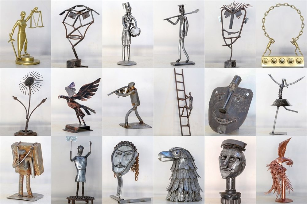 İranlı heykeltıraş Ali Mutii hurdaları sanata dönüştürüyor - 2
