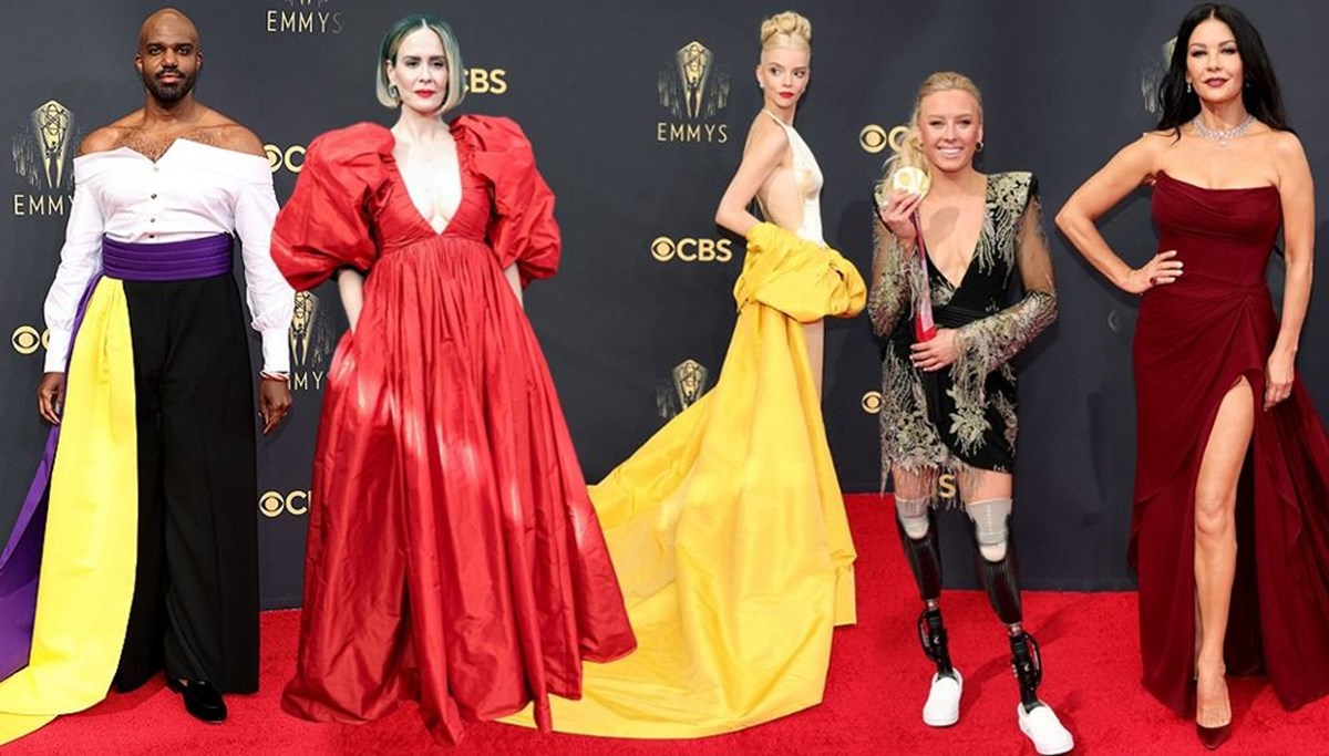 2021 Emmy Ödülleri'nde kırmızı halı şıklığı