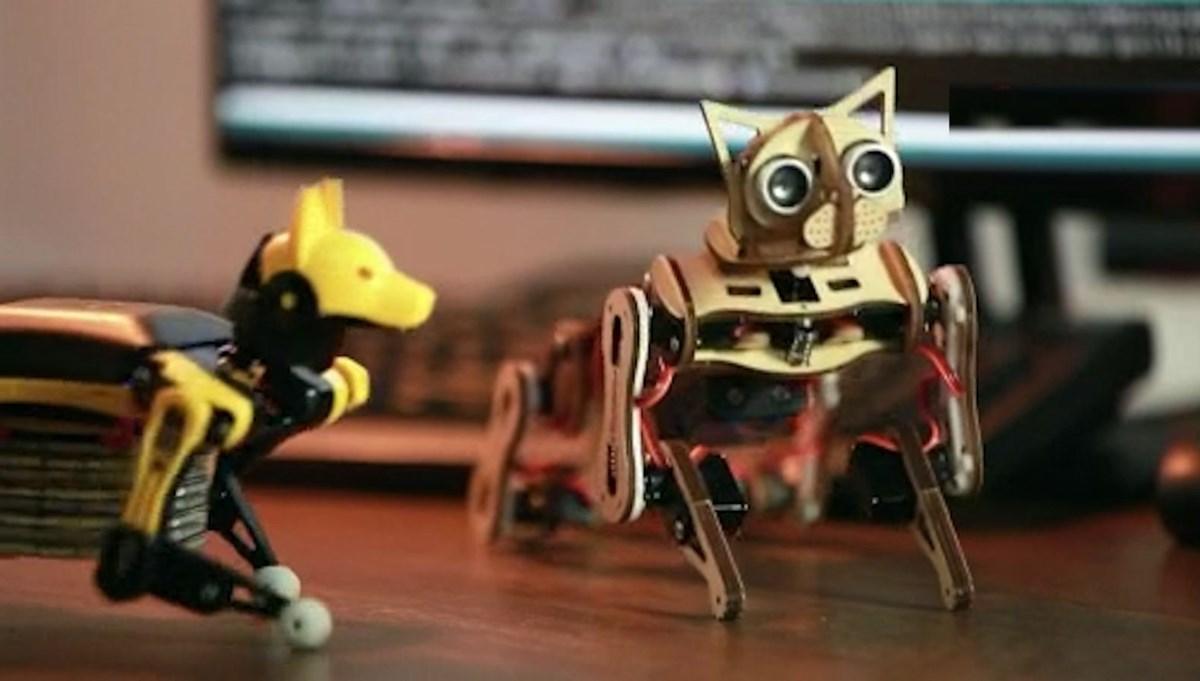 Robot kediden sonra robot köpek: El sallıyor, zıplıyor