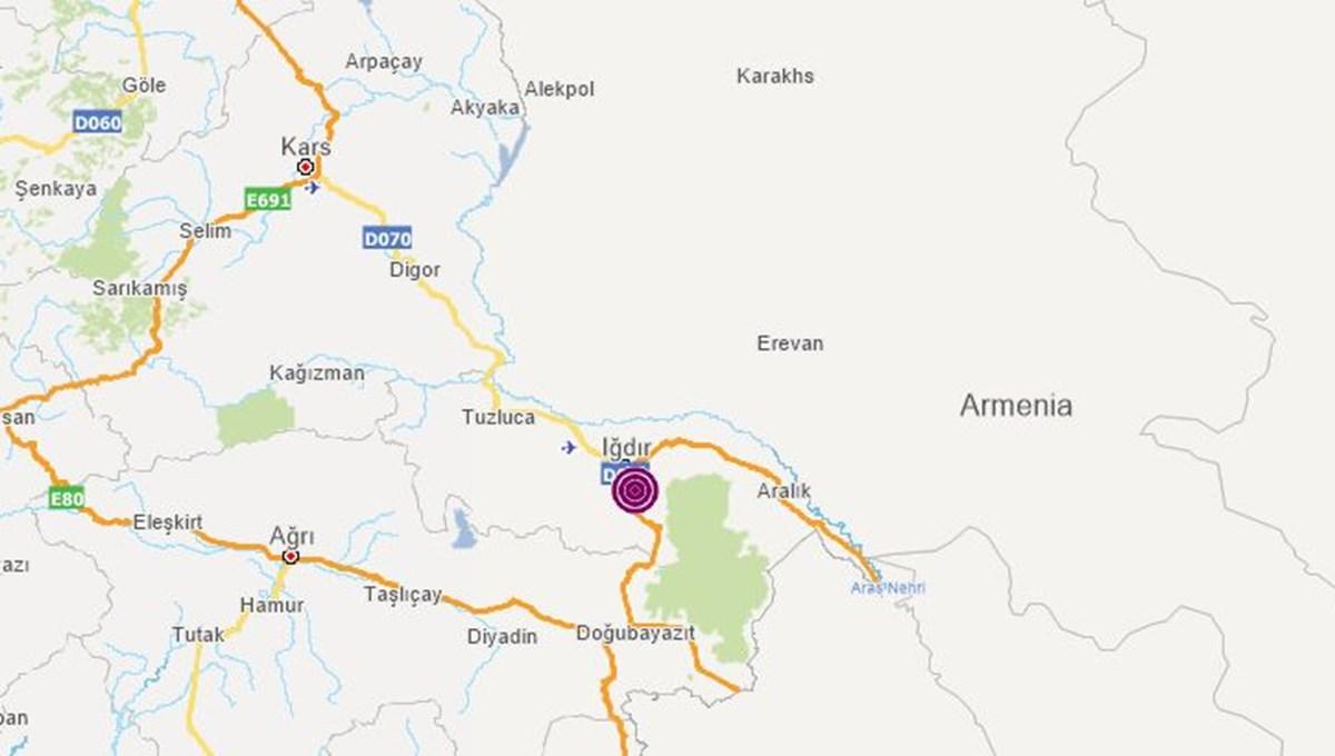 SON DAKİKA HABERİ: Iğdır'da 4,4 büyüklüğünde deprem