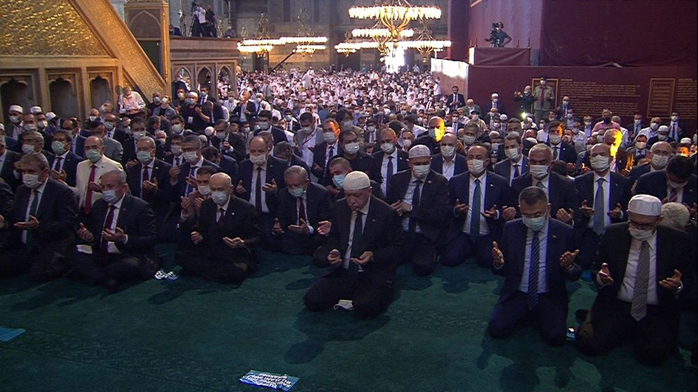Ayasofya-i Kebir Camii Şerifi ibadete açıldı (Ayasofya'da 86 yıl sonra ilk namaz) - 5
