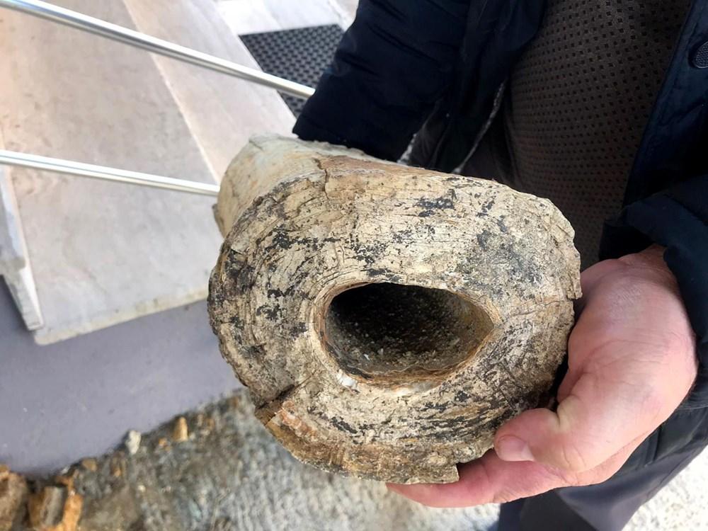 Edirne'de 8 milyon yıllık mamut fosilleri bulundu - 9