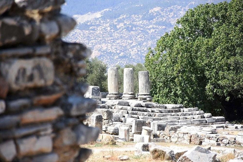 Muğla Lagina Hekate Kutsal Alanı'ndaki yapılar ayağa kaldırılıyor - 3