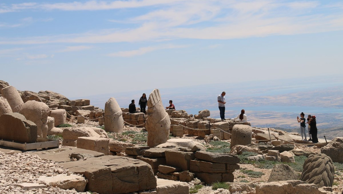 Nemrut Mountain started to welcome its visitors after its closure.