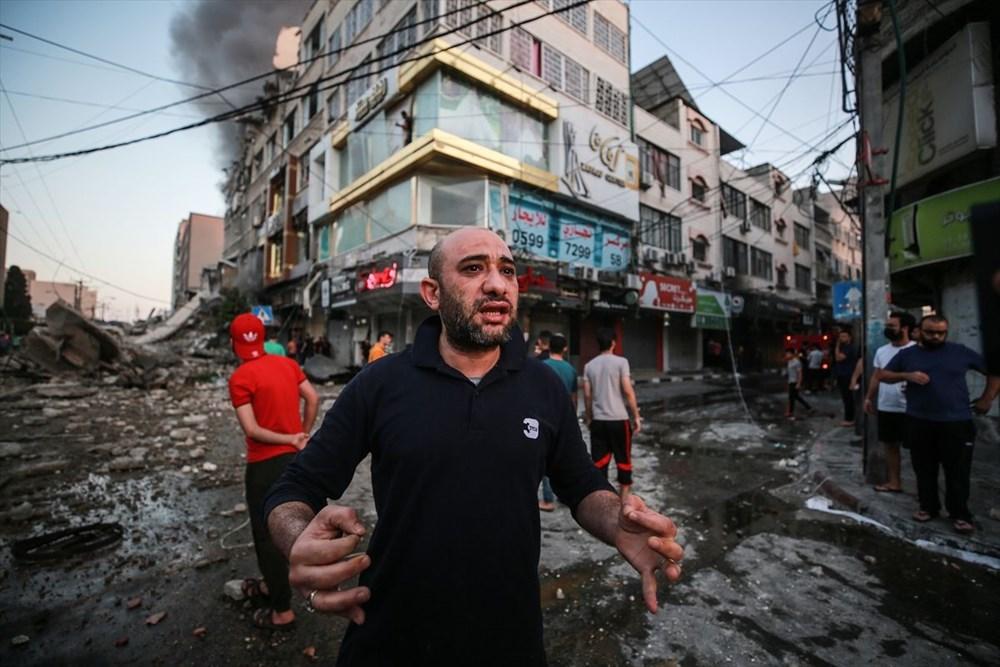 İsrail, Gazze'de sivillerin bulunduğu 14 katlı binayı vurdu - 30