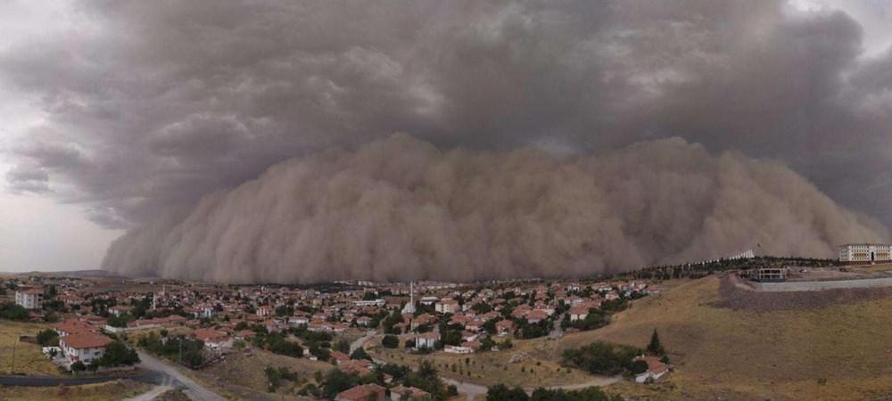 Ankara'da kum fırtınası: Polatlı'yı toz bulutu kapladı - 7