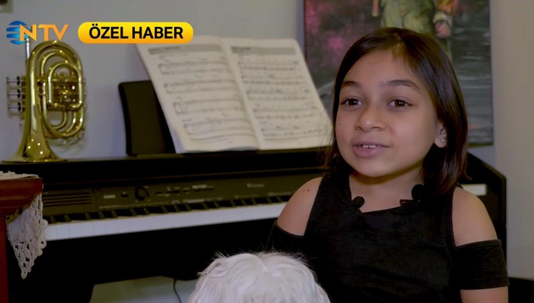 10 yaşındaki Lara yaşama müzikle tutundu