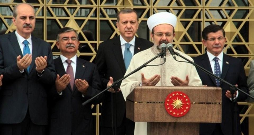 Cumhurbaşkanı Erdoğan'ın konuşmasını tamamlamasının ardından, Diyanet İşleri Başkanı Prof. Dr. Mehmet Görmez tarafından dua okundu.